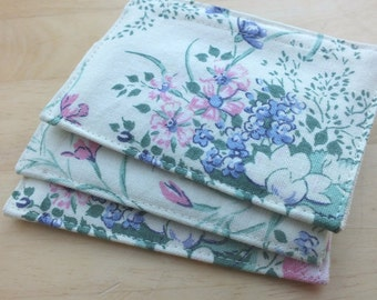3 Wild flowers Scented Pockets, Scent Packs Refillable, Re-usable Fragrance Floral Drawer Sachet