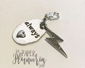 Always with Lightning Bolt Planner Charm | Harry Potter, Marauders Map, Hogwarts,  Snape and Lilly, magic | HP007