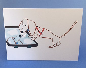 Doxie Card Dachshund Card Weiner Dog Card GilmoretheDachshund Greeting Card