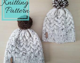 Amėlie Beanie Knitting Pattern | Intermediate Knitting Pattern | Knit Hat Pattern | Easy Knitting Pattern