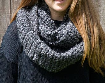 Charcoal circle scarf