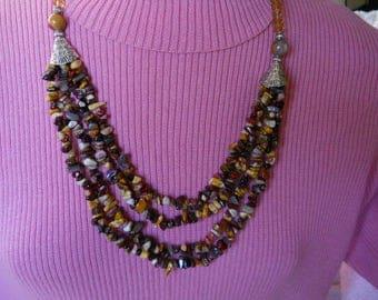Kashger Garnet Stone Necklace #108