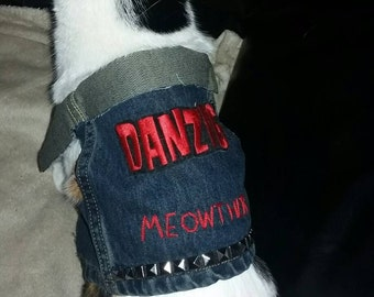 Denim Cat Vest - Danzig Meowther