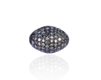 SDC-1122 - Bead -Pave diamond charm