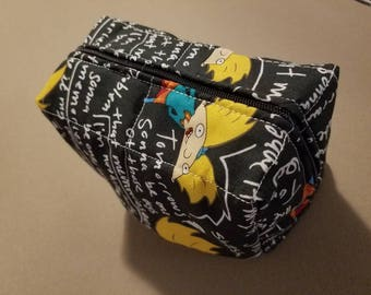 Hey Arnold! Move it football head! Toiletry/cosmetic/ art supply bag.