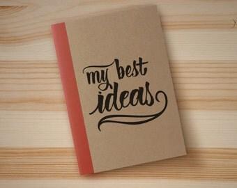 Personalized Calligraphy Notebook / Libretas personalizadas con caligrafía