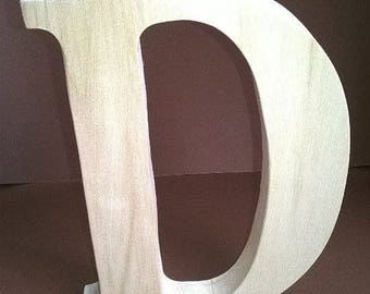 Wooden Wedding letters D , Free standing letters, Wedding letters , Wooden initials, table decor large wooden letters 7.9 inches
