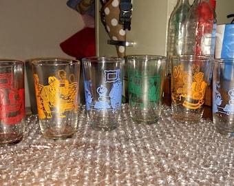 Vintage Jelly Juice Glasses-Set of 6