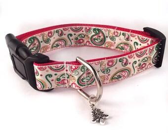 Christmas Paisley Inspired Collar - Glittered - RTS