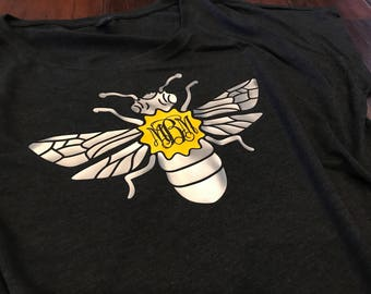 Bee Monogram Design on Dolman T-Shirt