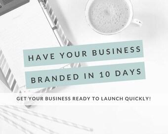 Get Your Business Branded In 10 Days, Business Branding Package, Custom Logo Design, Business Logo, Facebook Cover, Business Card Design