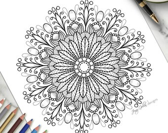 Printable Adult Colouring Page Sweet