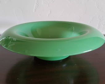 Jadeite Rolled Edge Console Bowl