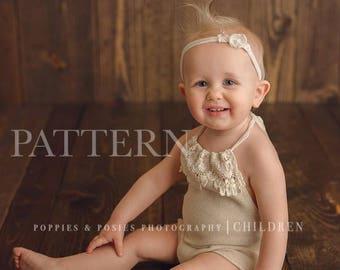 SITTER ROMPER PATTERN - Sewing Pattern - Corbin/Kaylin Boy or Girl Sitter Romper//Sitter Photography Prop