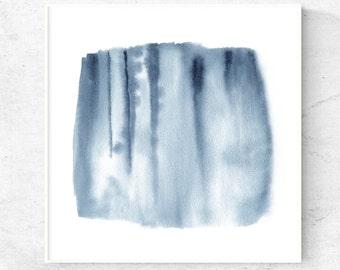 Blue Grey wall art, Abstract watercolor art, printable artwork, download print , square art print, 12x12, 8x8, 5x5, home decor wall art