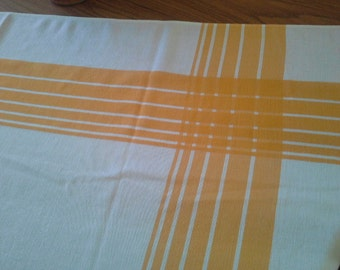 Retro 1960's Cotton/Linen Square Tablecloth
