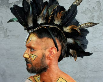 Tribal mohawk Earthy Black Male by Shapeshifters