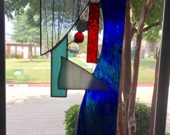 Stained Glass Suncatcher Abstract