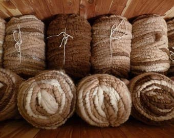 Alpaca Rug Yarn - super-soft alpaca fleece, core-spun into 90 yard bumps (I can make smaller bumps - just let me know what you need)