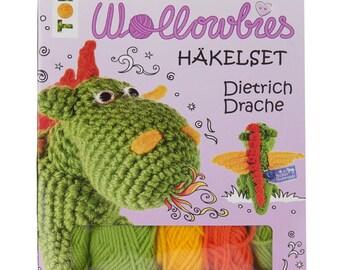 Wollowbies crochet Kit Dietrich Dragon crochet knitting crafts