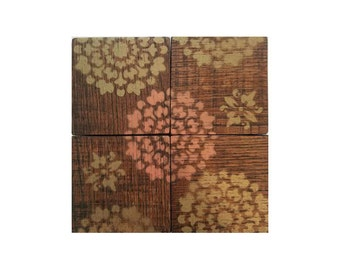 Wooden Coasters, Set of 4