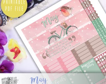 50% OFF! ERIN CONDREN May Monthly View Kit – Printable Planner Stickers