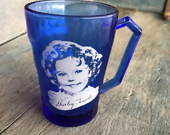 Cobalt Blue Shirley Temple Mug |  Shirley Temple Glass in Cobalt Blue