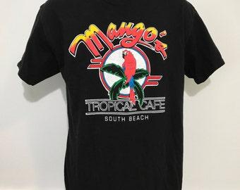 Mango's Tropical Cafe South Beach Tee L