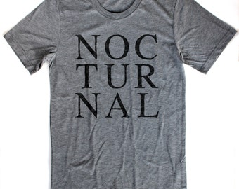 Noctural T-Shirt UNISEX  -  S M L XL  -  Available in four shirt colors