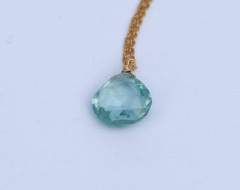 March Birthstone, Aquamarine Necklace, Aquamarine Jewelry