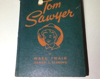 Tom Sawyer - Old Book - Literary Gift - Book Decor - Mark Twain - Childrens Book - Vintage Book