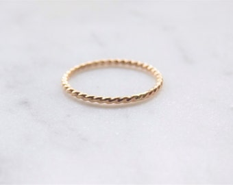 Twist Ring | Gold Filled Ring | Dainty Ring | Stacking Ring | Minimalist Ring | Delicate Ring | Gold Stacking Rings | Gold Ring