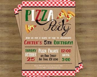 Pizza Party Invitation; Pizza Invitation; Pizza Birthday Invitations Printable; Pizza Party Invite; Pizza Invite