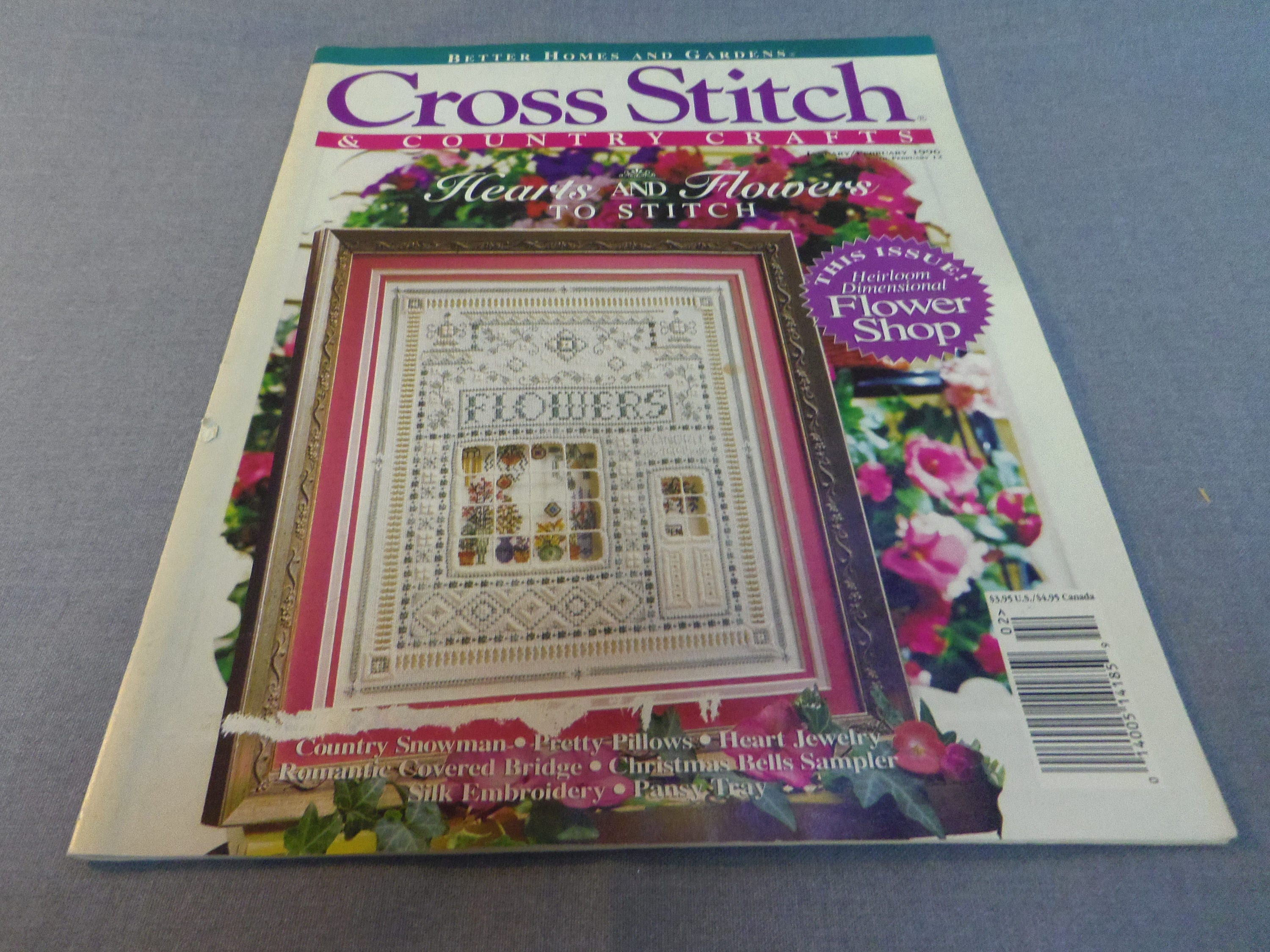 Cross stitch country crafts magazine back issues - Cross Stitch And Country Crafts Magazine Back Issue Jan Feb 1996 Counted Cross Stitch