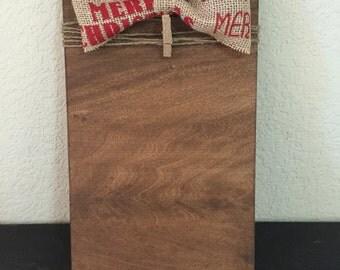 Christmas Burlap Bow frame