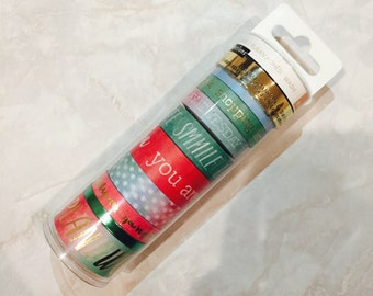 Recollections Washi Tape. Spring Dream- Smile. Laugh. You are beautiful. Errands list. Plan. Work. Coloful