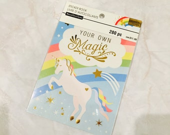 Recollection sticker book. do your own magic. unicorn. 280 pieces