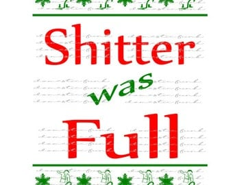 Christmas Sweater Cousin Eddie - Shitter Was Full SVG