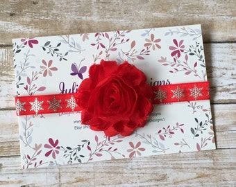Red Baby Headband, Red Headband, Baby Headband, Baby Girl Headband, Infant Headband, Newborn Headband, Christmas Headband, Girl Headband