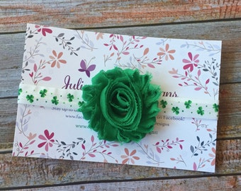 St Patricks Day Headband/Shamrock Headband/Flower headband/Irish Headband/Green Headband/Clover Headband/St Pattys Day Headband/St. Patricks