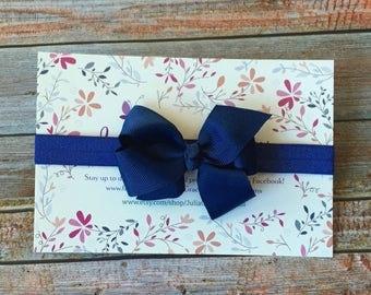 Navy Blue Bow Headband/Navy Blue Baby Bow/Navy Blue Baby Headband/Navy Blue Headband/Baby Headband/Newborn Headband/Baby Girl Headband/Baby