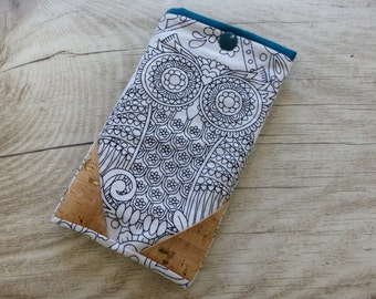 Mobile case OWL OWL graphic Cork
