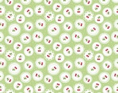 Sew Cherry 2 Doily in Green from the Sew Cherry 2 Collection by Lori Holt for Riley Blake