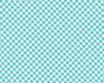 Blue Bias Check Cotton Fabric from the Quilt Camp Collection by Barbara Jones for Henry Glass Fabrics