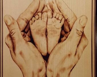 Custom Mother's hands