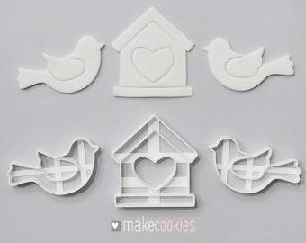Birds House Cookie Cutters Set (3 pcs)