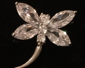 Fabulous Dragonfly Rhinestone Brooch or Pin