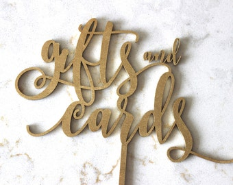 Laser Cut gifts and cards sign // Wedding sign // wedding decor // Free Standing wedding sign // gifts Sign //Table top gifts and cards sign
