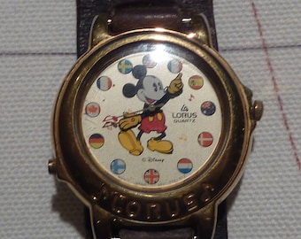 Vintage Lorus Musical Mickey Mouse Watch