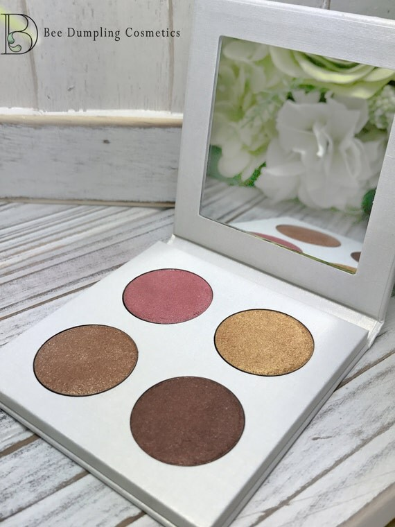 Vegan Eyeshadow-Royal Eyeshadow-Vegan Eye Shadow-Eyeshadow-Quad 12 Eyeshadow Palette-Organic Eyeshadow Palette, Vegan Rose Gold Eyeshadow